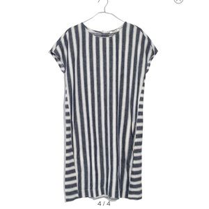 Madewell Stripe Button Back Dress
